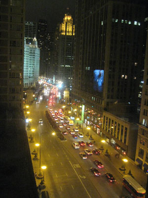 Hotel view at night