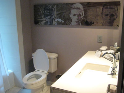 David Bowie bathroom