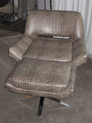 Snakeskin chair