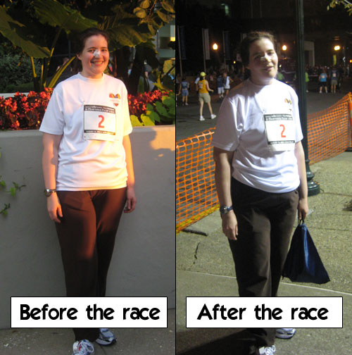 Before the 5K and after the 5K