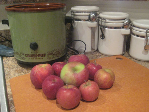 Apples and a crockpot