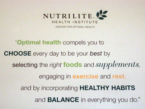 Nutrilite welcomes us