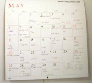 Calendar of guilt
