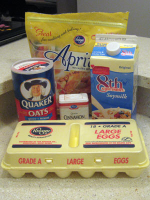 Oatmeal pancake ingredients