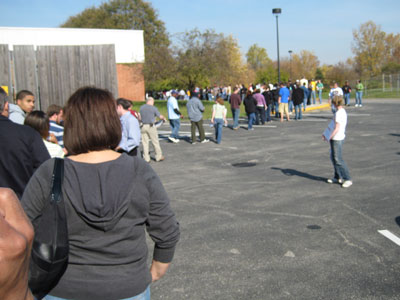 End of the early voting line