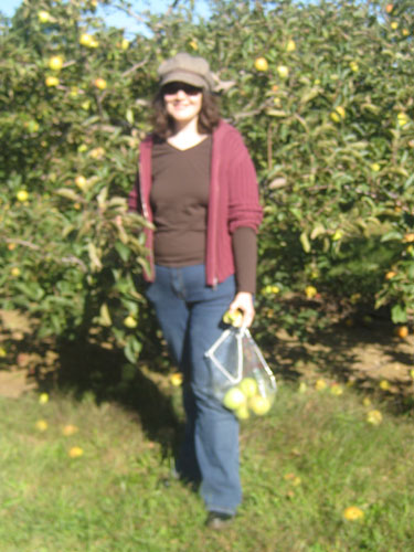 Jennette in the orchard