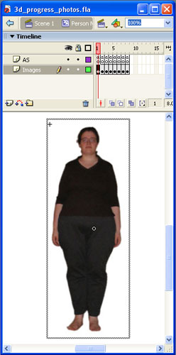 Importing images of myself to Flash is as close to flashing as I will ever get.